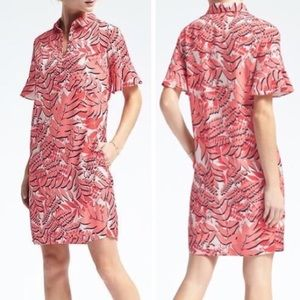 NWTO Banana Republic Flutter Sleeve Shirt Dress